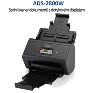 BROTHER skener ADS-2800W (až 30 str/min, 600 x 600 dpi, aut.duplex, LCD,512MB) WiFi+LAN