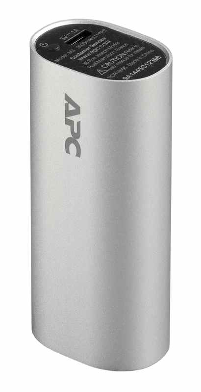 APC Mobile Power Pack, 3000mAh Li-ion cylinder, Silver Power Bank