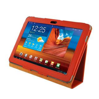 4World Pouzdro - stojan pro Galaxy Tab 10.1, dvě nastavení, oranžový