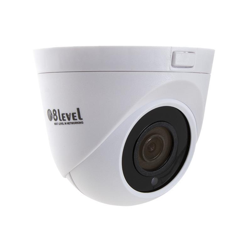 8level IP camera 4MP, 3.6mm, PoE, WDR, IR20m, SD