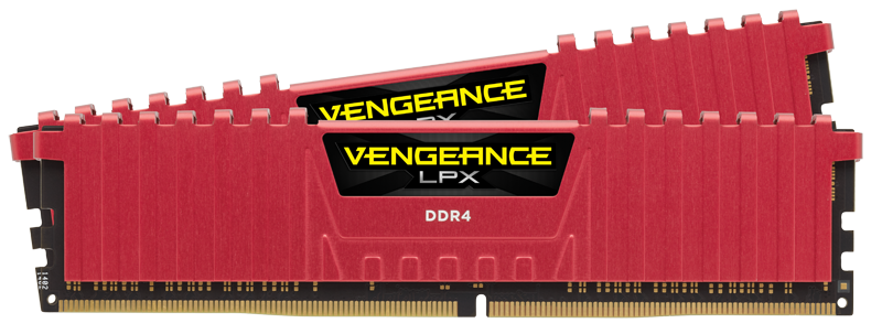 Corsair Vengeance LPX 32GB (Kit 2 x 16GB) DDR4 DIMM 3466MHz CL16 1.35V, červená