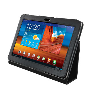4World Pouzdro - stojan pro Galaxy Tab 10.1, dvě nastavení, černý