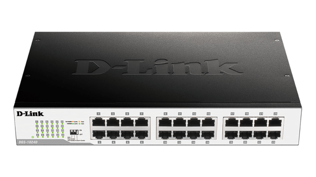 D-Link DGS-1024D/E 24-Port 10/100/1000Mbps Copper Gigabit Switch