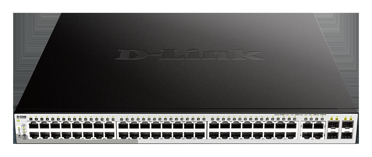 D-Link 52-Port PoE Gigabit Smart Switch 370W PoE including 4 x SFP