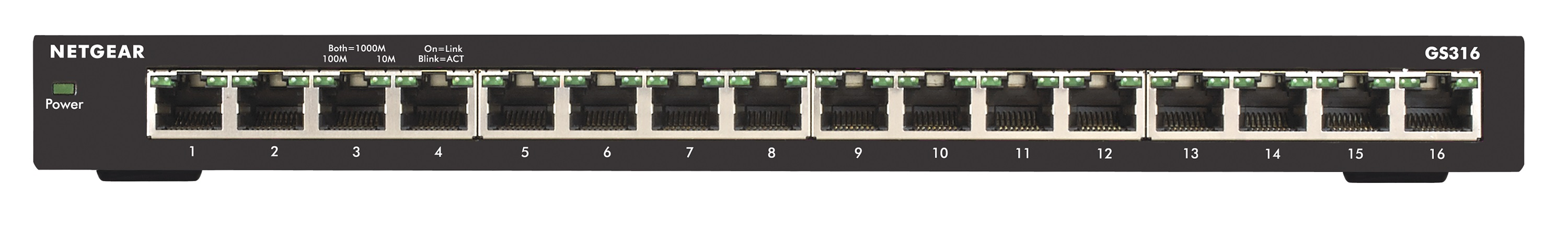 NETGEAR, 16PT GE UNMANAGED SWITCH, GS316
