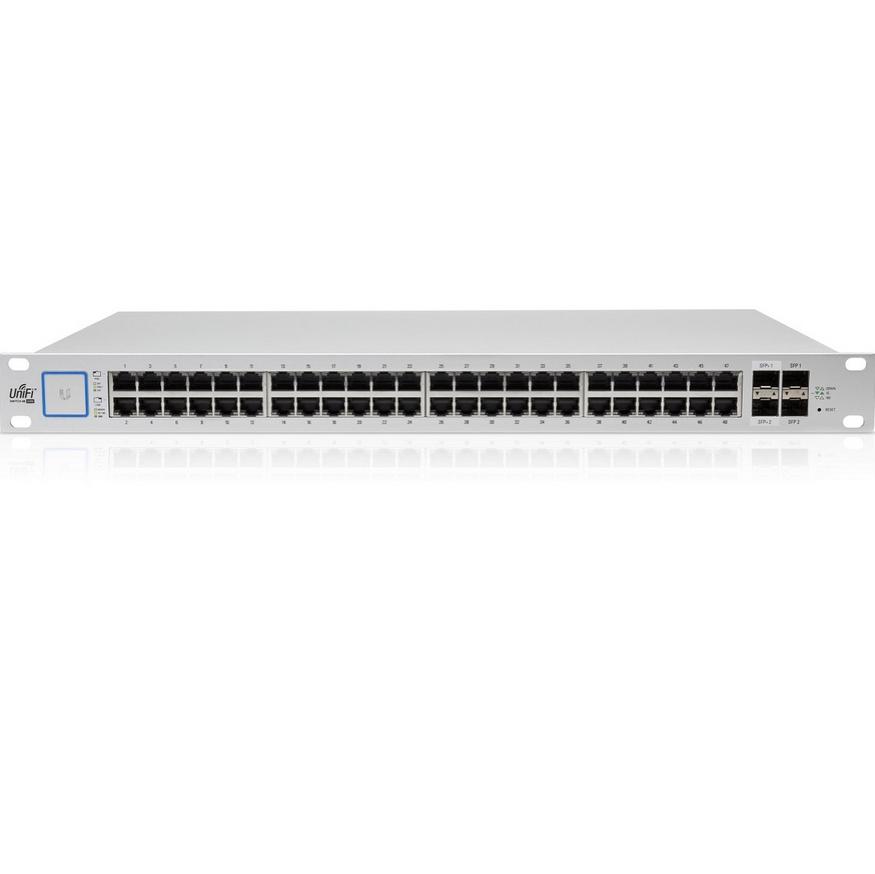 UBNT UniFi Switch US-48-750W [48xGigabit, 750W PoE+ 802.3at/af, pasivní PoE 24V, 2xSFP + 2xSFP+, non-blocking 70Gbps]