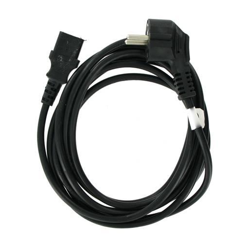4World Napájecí kabel 3pin 3.0m Black