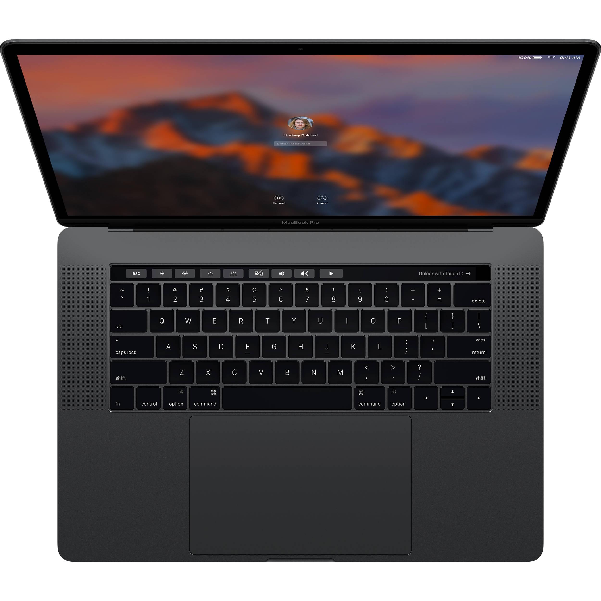 "Apple MacBook Pro 15,4"" Touch Bar/IPS Retina 2880x1800/QC i7 2.8-3.8GHz/16GB/256GB_SSD/R Pro 555_2GB/CZ/Space Gray"