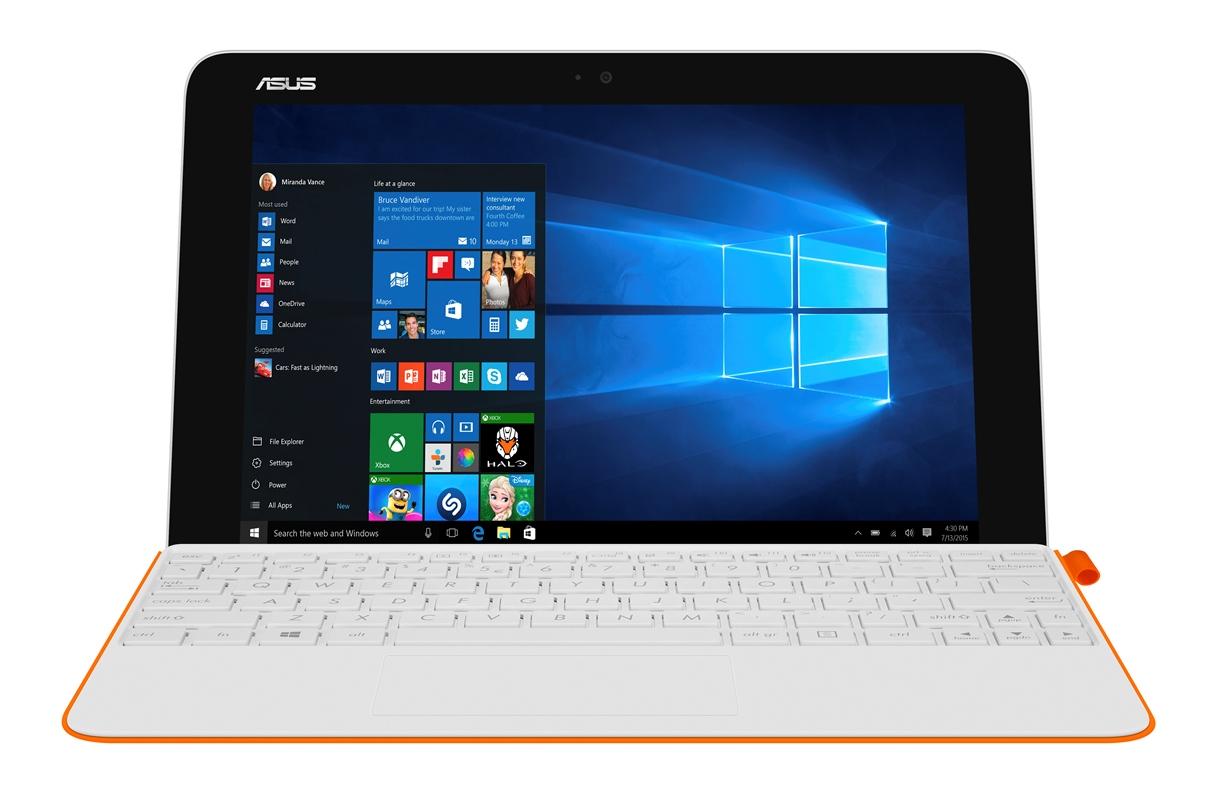 """ASUS T102HA-GR042T Atom x5-Z8350/4G/64G EMMC/UMA/10,1"""" IPS/WXGA/Touch/W10/White / Orange"""