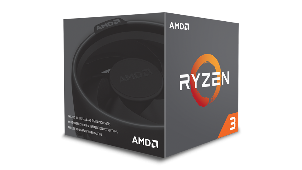 AMD cpu Ryzen 3 1200 Box AM4 (4core, 4x vlákno, 3,1GHz / 3,4GHz, 10MB cache, 65W ) s chladičem Wraith Stealth
