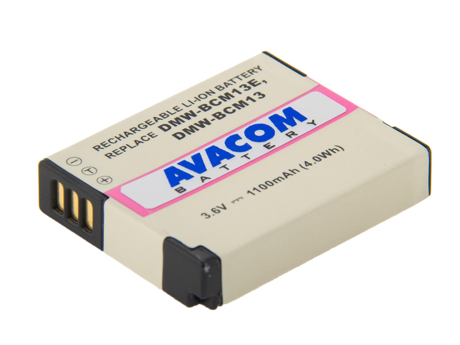 Baterie AVACOM Panasonic DMW-BCM13, BCM13E Li-Ion 3.6V 1100mAh 4Wh