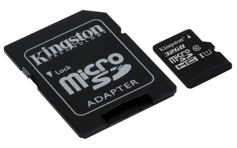 KINGSTON 32GB microSDHC CANVAS Memory Card 80MB/10MBs- UHS-I class 10 Gen 2