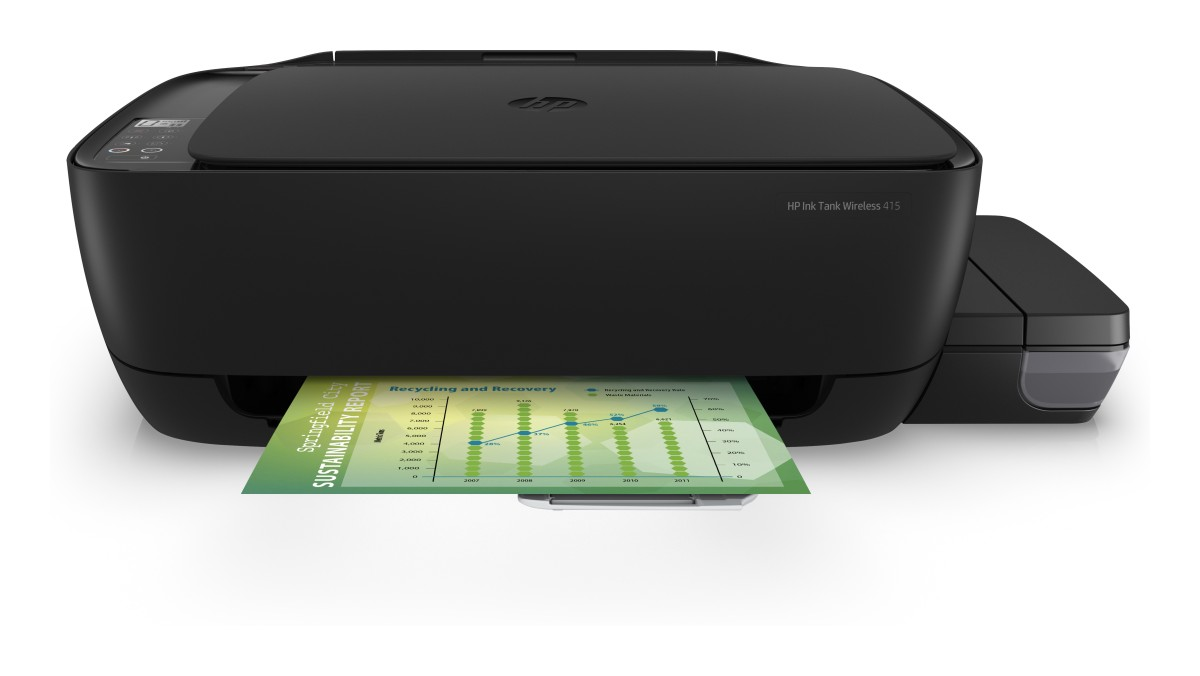 HP All-in-One Ink Tank Wireless 415 (A4, 8/4 ppm, USB, Wi-Fi, Print, Scan, Copy)