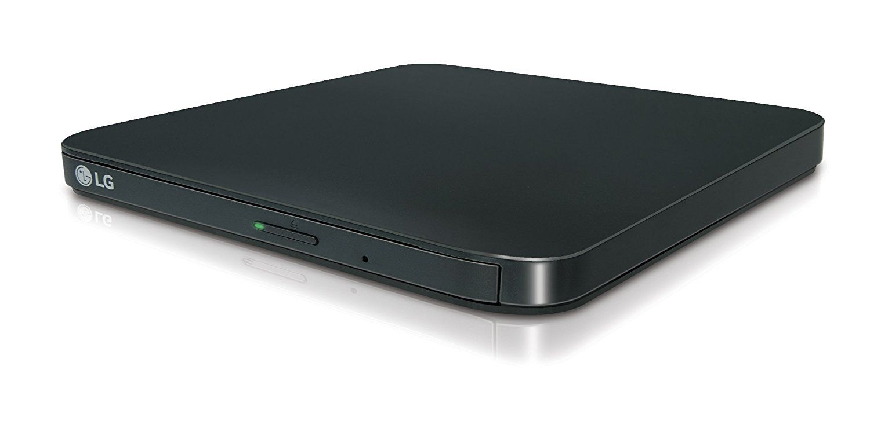 DVDRW LG GP95EB70 8x USB externí slim černá, připojitelná k zařízením s OS Android