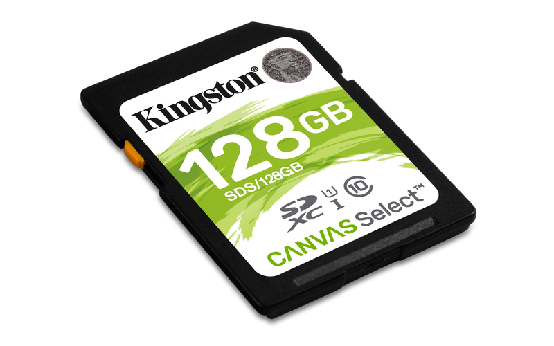 KINGSTON 128GB SDHC CANVAS Class10 UHS-I 80MB/s Read Flash Card