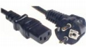 PremiumCord napájecí kabel 240V, délka 3m CEE7 pravoúhlý/IEC C13