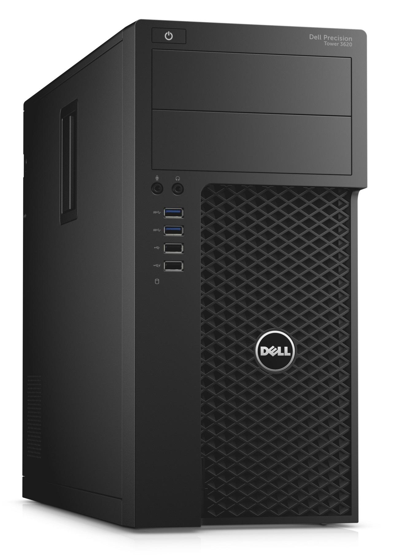 DELL Precision T3620 Xeon E3-1240 v5/16GB/256 SSD/5GB Quadro P2000/DVD-RW/Win 7 + Win 10 Pro 64bit/3Yr PS NBD
