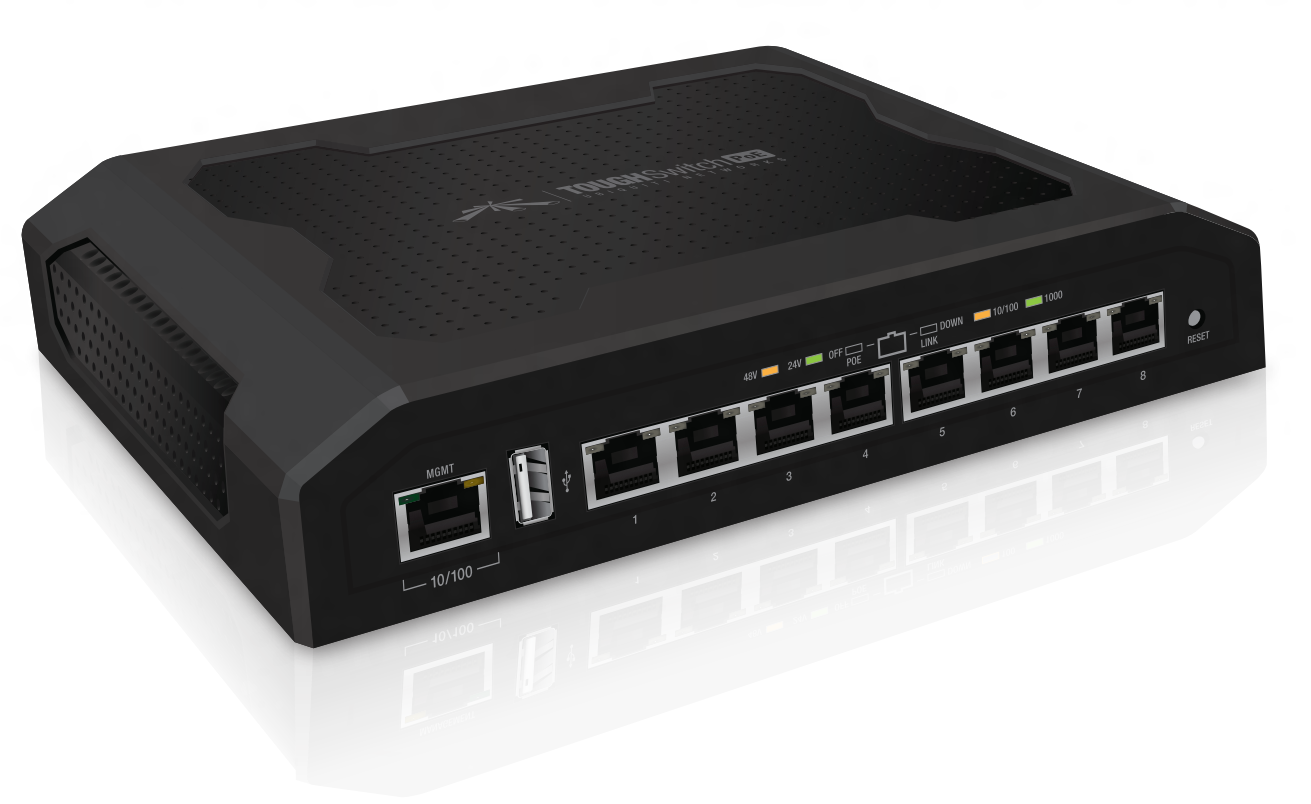 Ubiquiti TOUGHSwitch PoE PRO 8-port Gigabit switch with 24V/48V PoE support