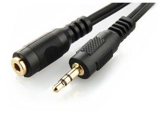 Gembird kabel,prodlužovací audio JACK 3.5mm samec/JACK 3.5mm samice 5M,pozlácený