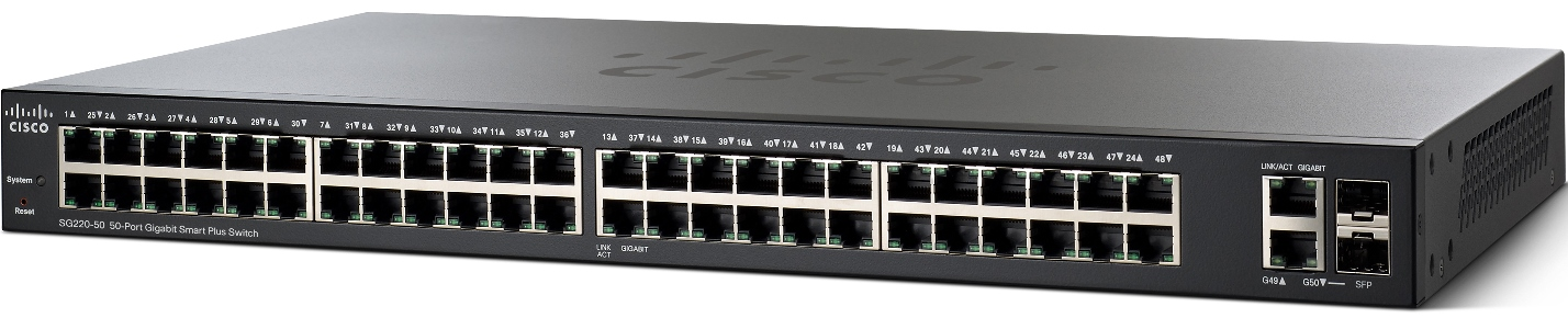 Cisco SG220-50 50-Port Gigabit Smart Switch
