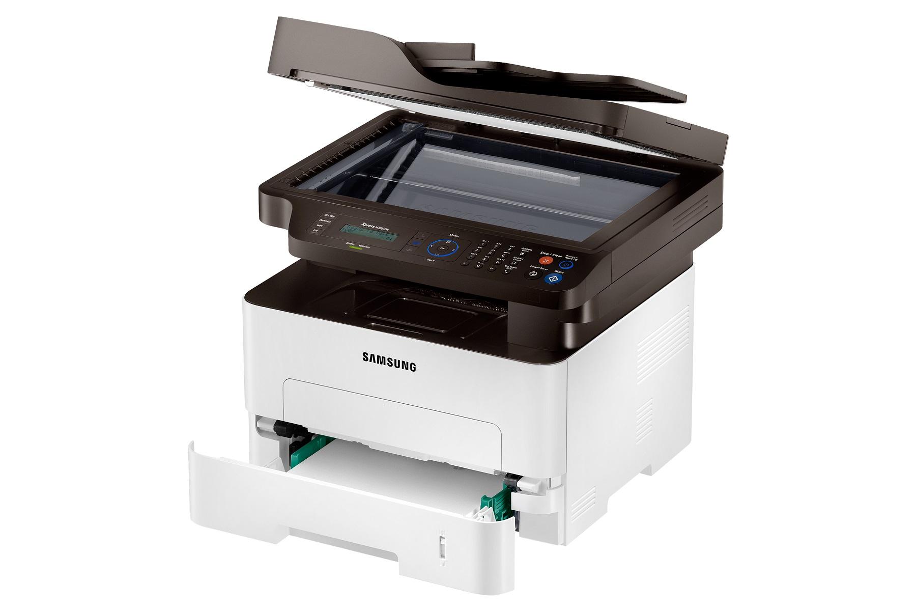 HP - Samsung SL-M2885FW,A4,28ppm,4800x600dpi,128Mb,PCL,USB,NFC,ethernet,wifi,ADF,fax