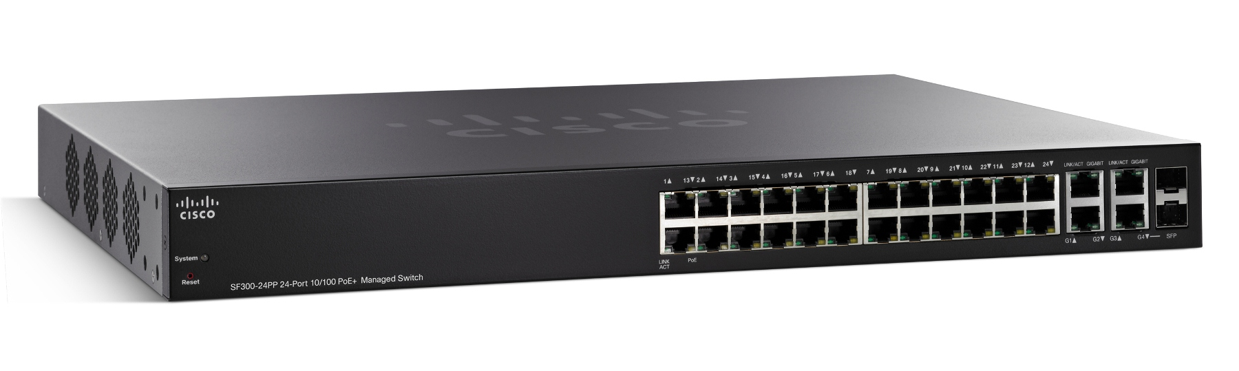 Cisco SF300-24PP 24-Port 10/100 PoE+ Managed Switch