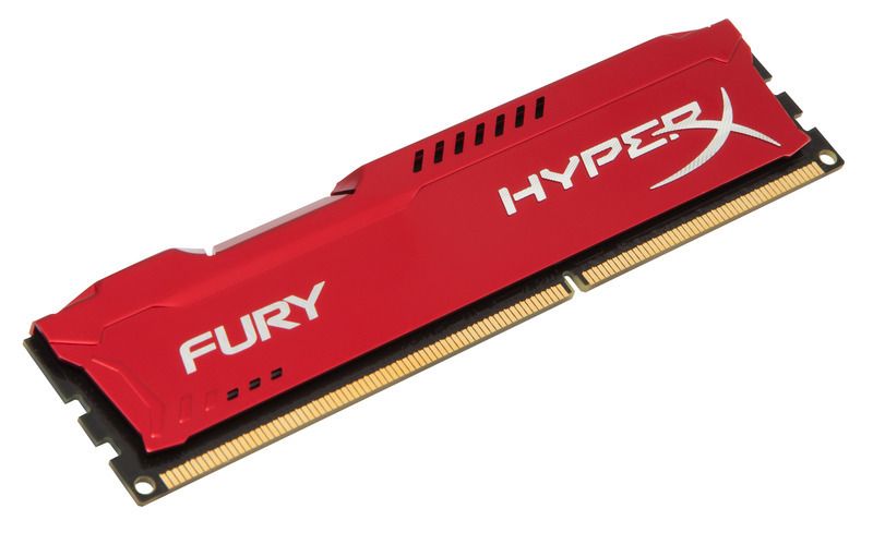 Kingston DDR3 4GB HyperX FURY DIMM 1600MHz CL10 červená