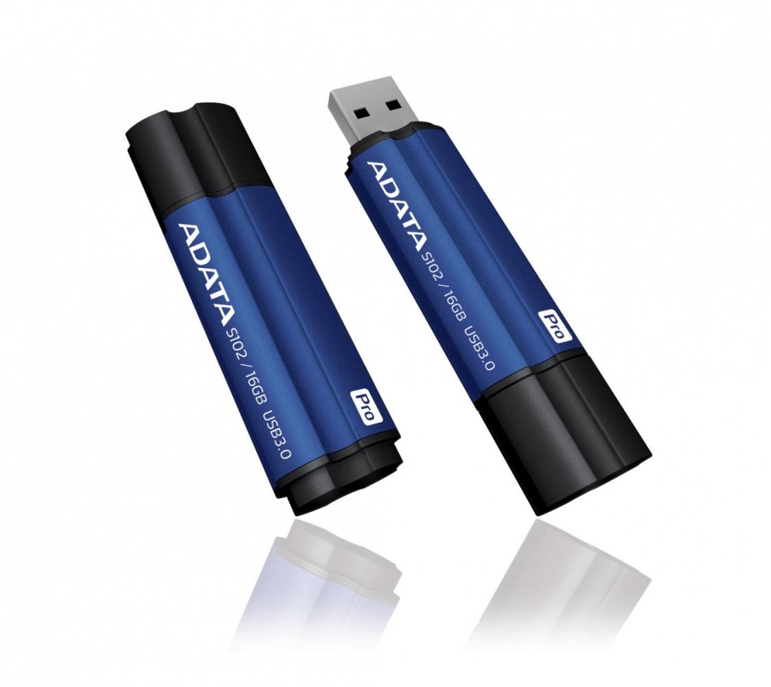 16GB USB 3.0 ADATA S102 Pro modrá (90/25MB/s)