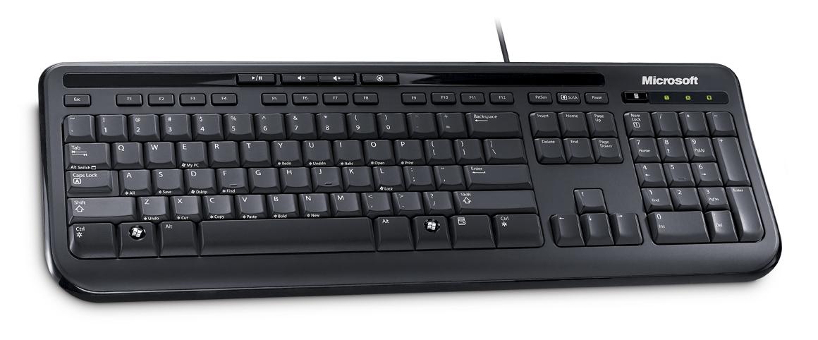 Wired Keyboard 600 USB Port CS Black