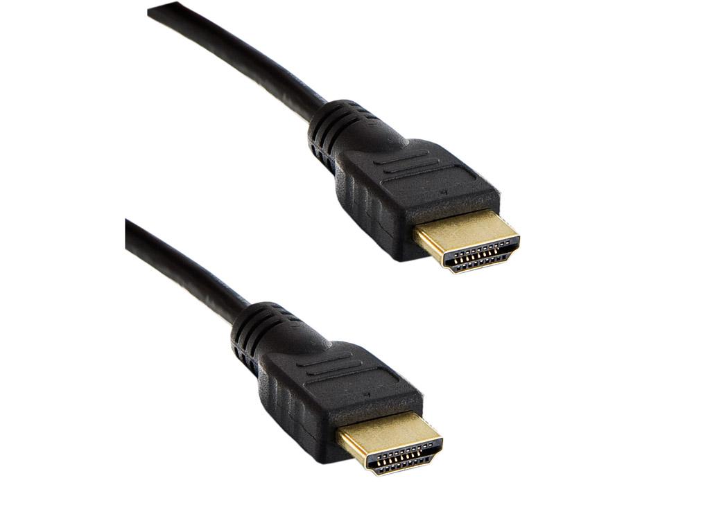 4World Kabel HDMI - HDMI High Speed s Ethernet (v1.4), 3D, HQ, BLK, 5m