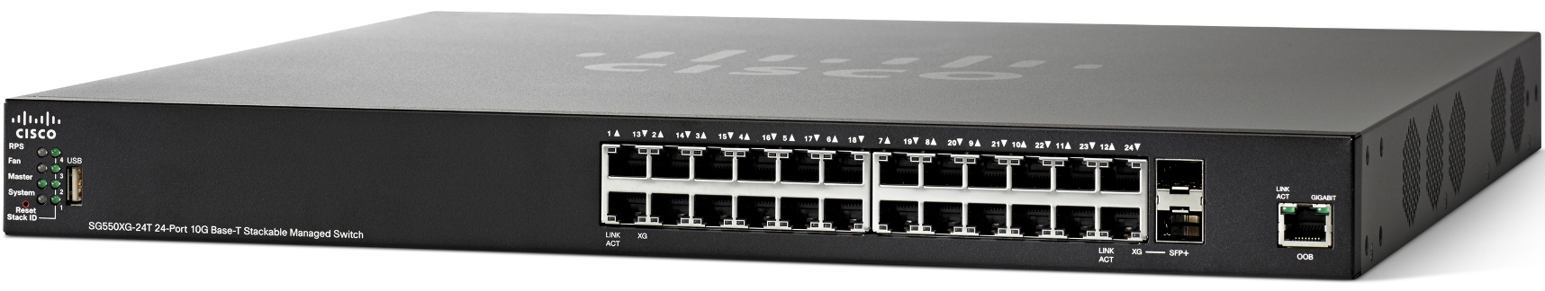 Cisco SG550XG-24T 24-Port 10Gigabit Managed Stackable Switch