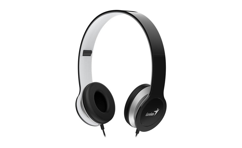 Genius headset - HS-M430 sluchátka s mikrofonem/ černé/ single jack!