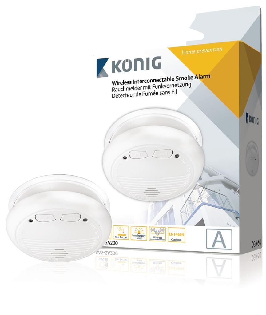 König bezdrátový detektor kouře