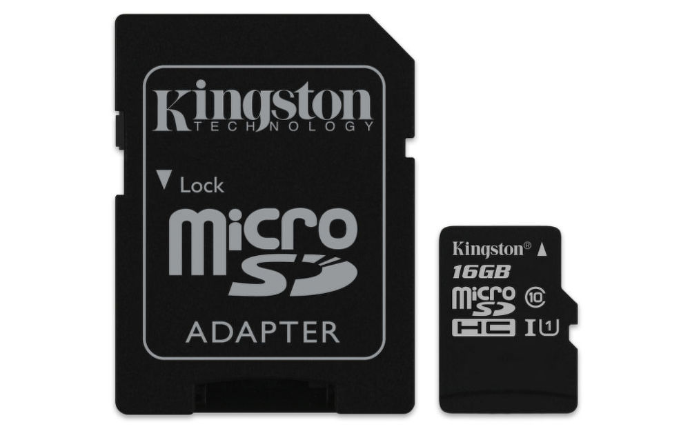 Kingston micro SDHC 16GB UHS-I Class 10 Industrial Temp Card + SD Adaptér