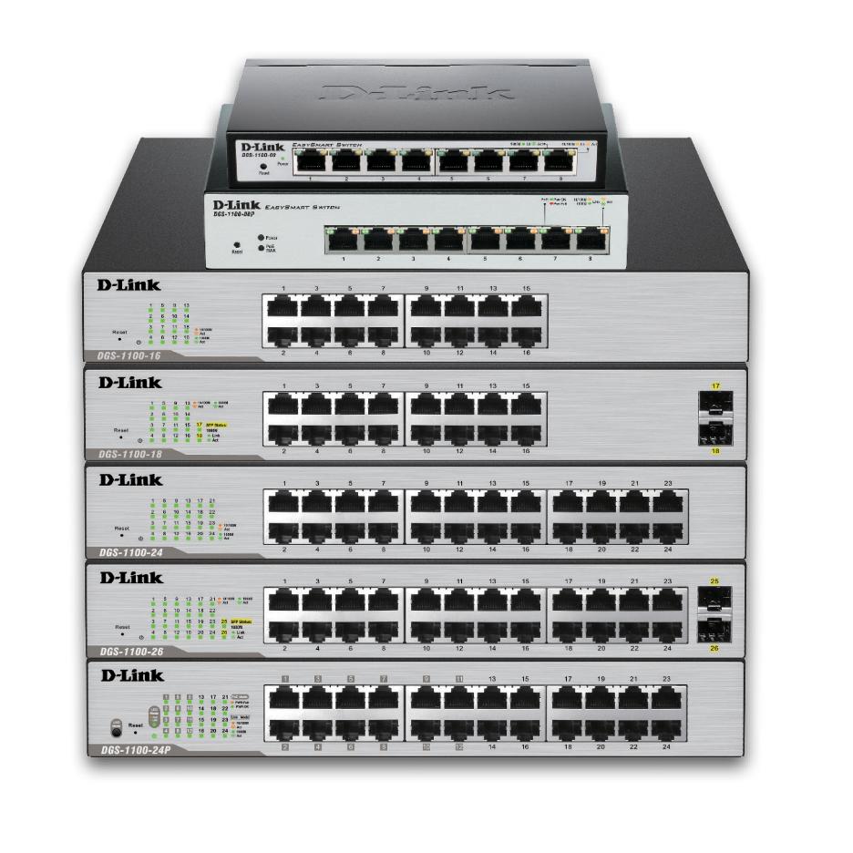 D-Link 26-Port PoE+ Gigabit Smart Switch (24XPoE, 370W)