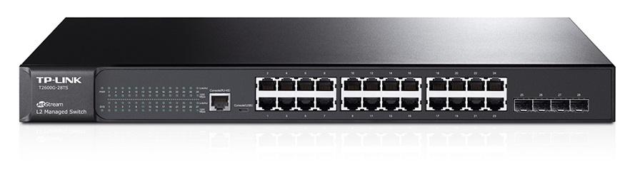 TP-Link T2600G-28TS 24xGb L2 Switch, 4 Combo SFP