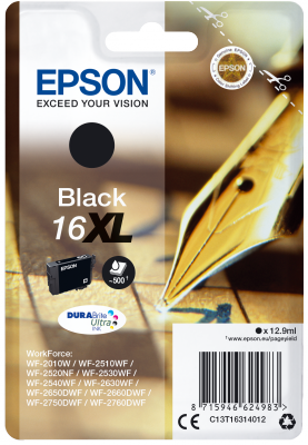 EPSON cartridge T1631 black (pero) XL