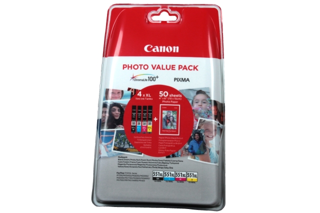 Canon cartridge CLI-551 XL C/M/Y/BK PHOTO VALUE