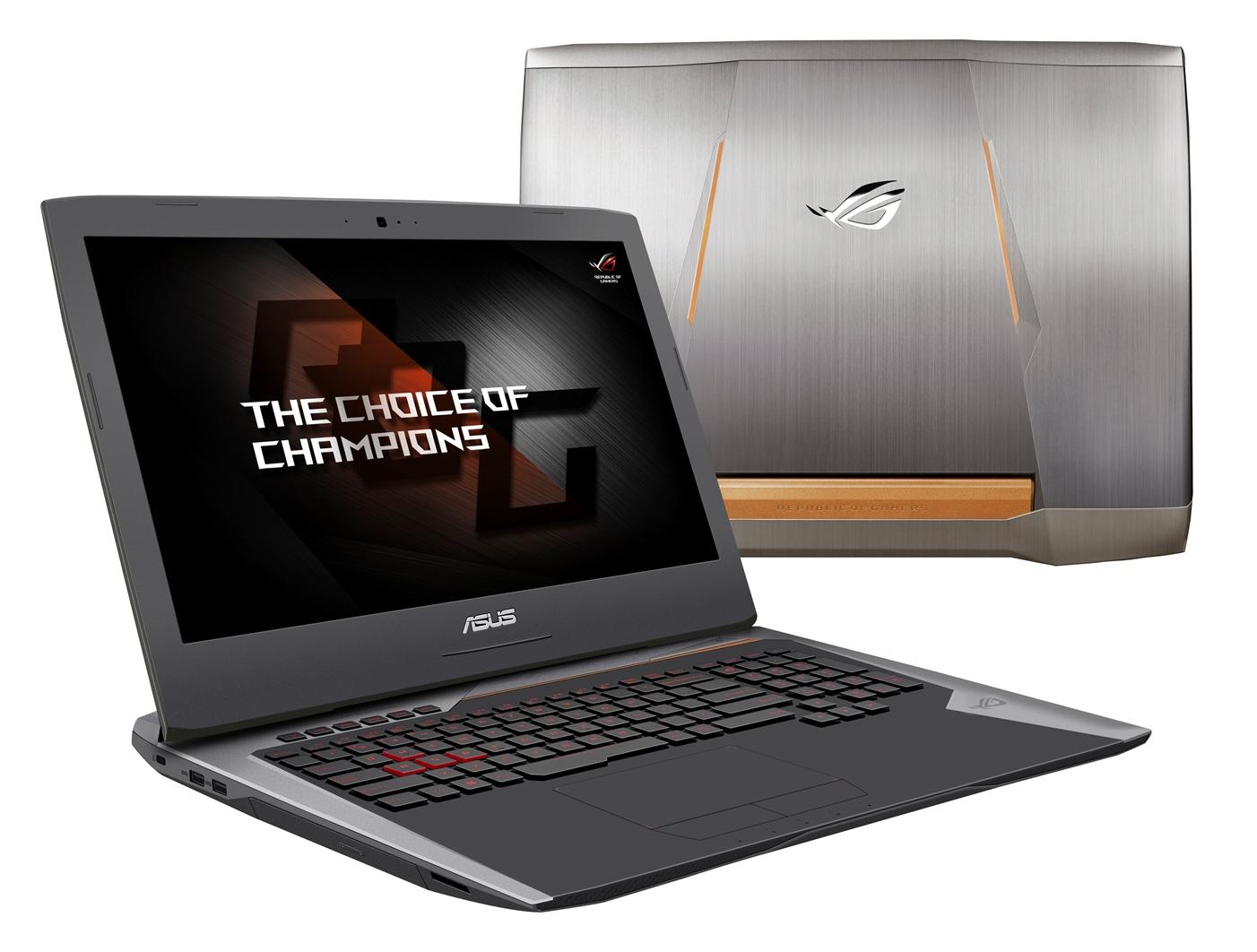 """ASUS G752VS(KBL)-BA263T i7-7700HQ/8GB+8GB/256GBSSD M.2+1TB 7200 ot./DVDRW/GeForce GTX1070/17.3"""" FHD LED matný/W10 Home"""