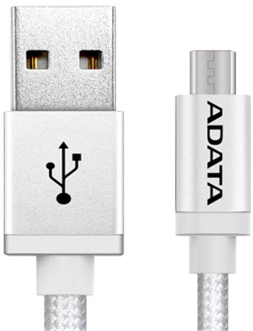 ADATA Lightning kabel MFi kovově stříbrný