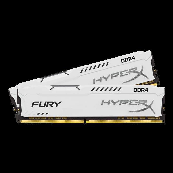Kingston DDR4 32GB (Kit 2x16GB) HyperX FURY DIMM 2400MHz CL15 bílá