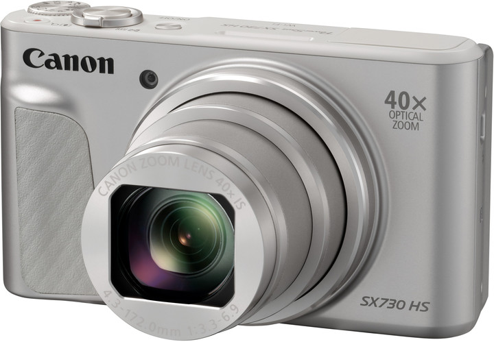 Canon PowerShot SX730HS, Silver - 20MP, 40x zoom, 24-960mm, 3,0""