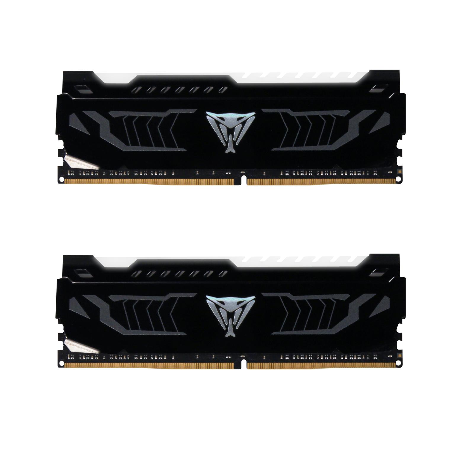 16GB DDR4-2400MHz Patriot Viper CL14, 2x8GB, bílé LED
