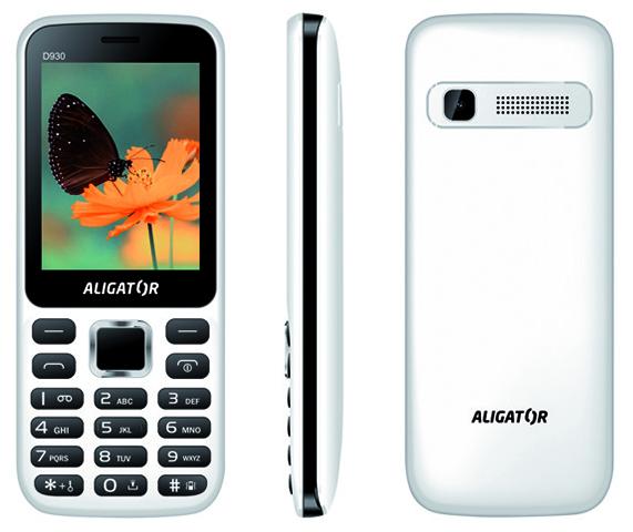 ALIGATOR D930 Dual sim bílo-černý