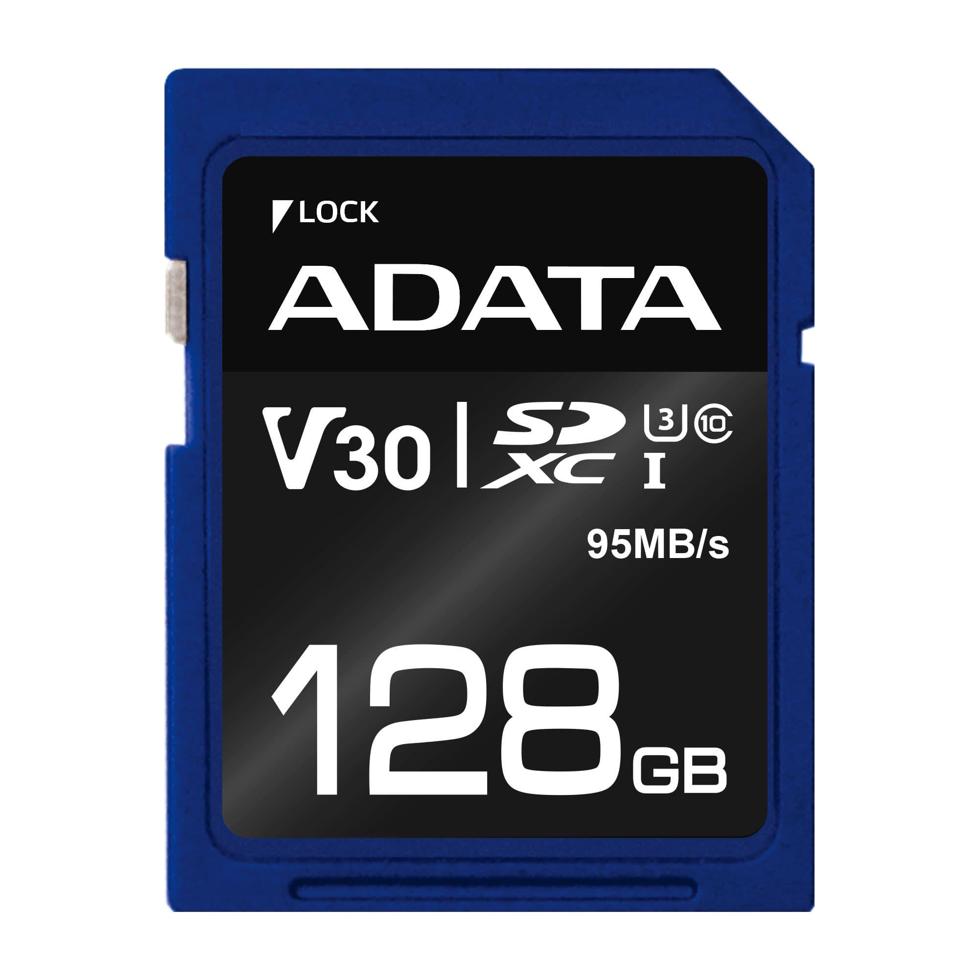 ADATA SDXC karta 128GB UHS-I U3 Class 10, Premier Pro (R: 95MB / W: 60MB)