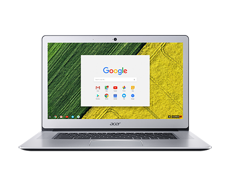 "Acer Chromebook 15 (CB515-1H-C9FU) Celeron N3450/4GB+N/A/eMMC 64GB/HD Graphics/15.6"" FHD IPS LED matný/BT/Google Chrome /Silver"