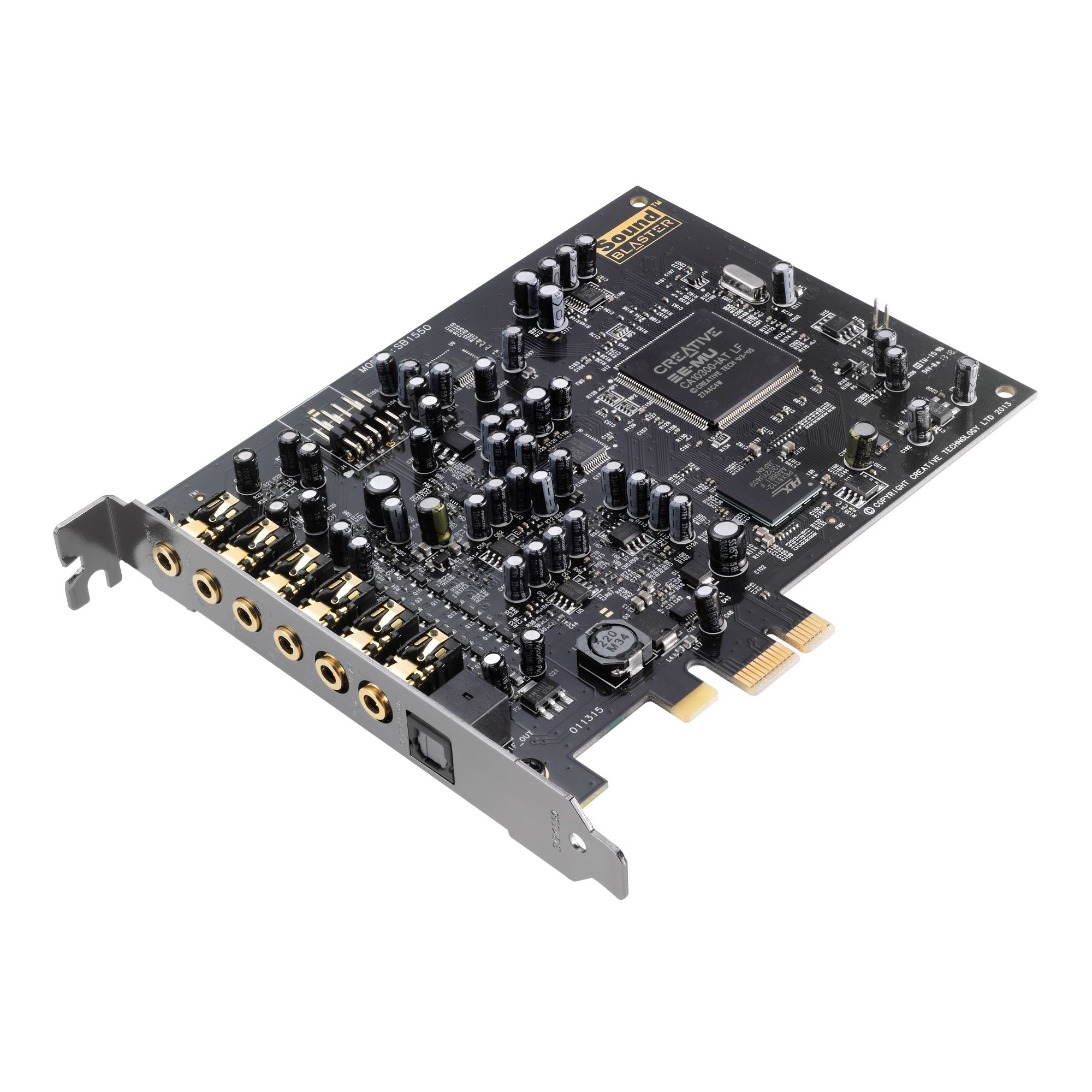 Creative Sound Blaster AUDIGY RX, zvuková karta 7.1, 24bit, EAX, PCIe