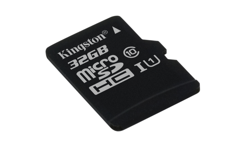 KINGSTON 32GB microSDHC CANVAS Memory Card 80MB/10MBs- UHS-I class 10 Gen 2 - bez adaptéru