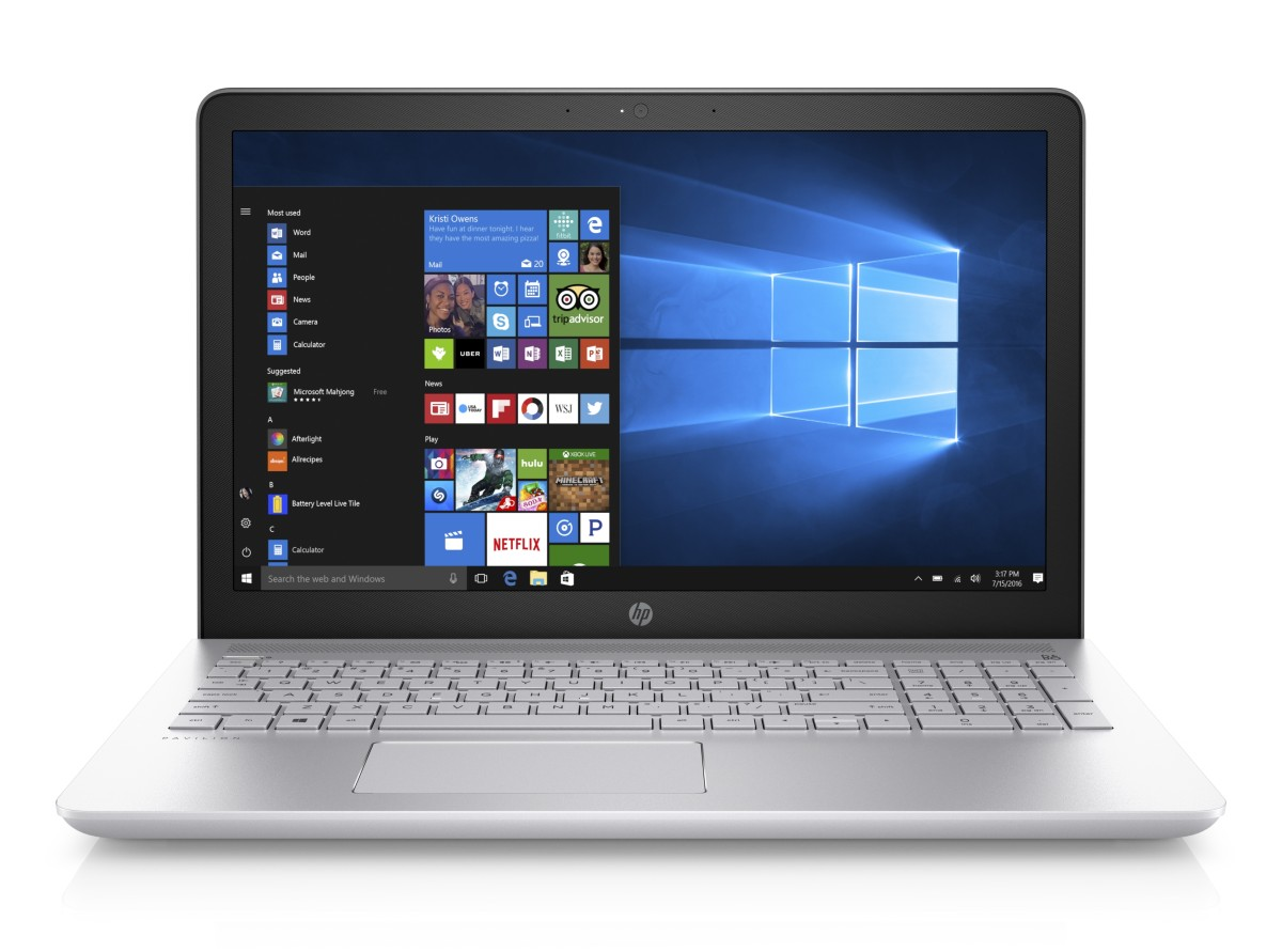 "NTB HP Pavilion 15-cc004nc 15.6"" AG FHD WLED,Intel i3-7100U,8GB,1TB/5400+128GB SSD,DVDRW,UMA,Win10 - silver"