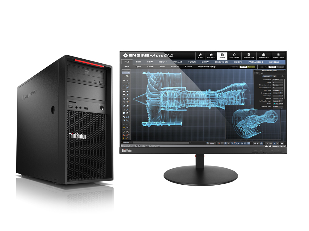 Lenovo ThinkStation P520c W-2123/16GB/256GB SSD/DVD-RW/Tower 500W/Win10PRO